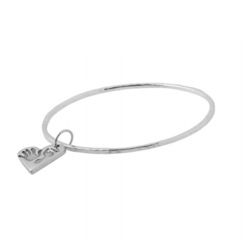 Heart Hand And Foot Print Bangle